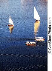 Boats on Nile - boats on the Nile
