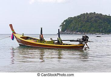 boats on shore