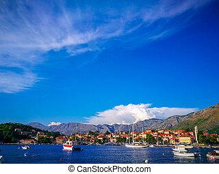 Boats on the Croatian coast, Cavtat, Croatia