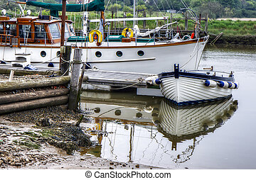 Boats on the River Blyth at Southwold