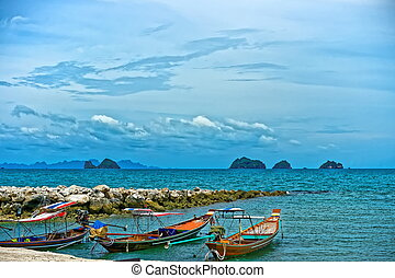 Boats on the shore of Thailand