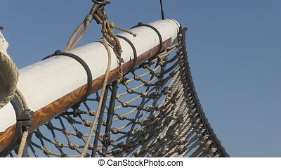 Boat's sail with ropes - A birds eye view shot of a boat's...