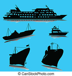 boats silhouette
