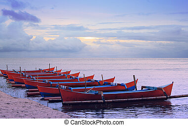 Stock photo of traditional fishing boats