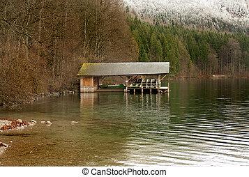 Boatshed  - A boatshed on a lake in Bavaria, Germany