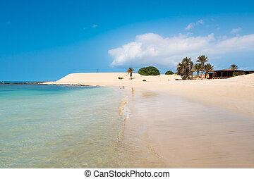 boavista, chaves, de, -, praia, verde, verd, capa, playa,...
