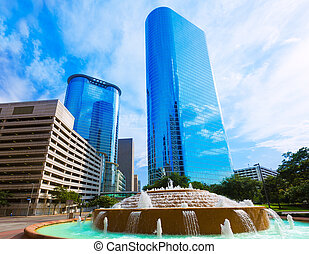 Bob and Vivian Smith fountain in Houston Texas - Bob and...