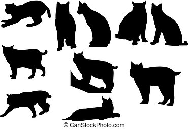 Bob cat Silhouette vector illustration