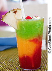 """""""The Bob Marley""""-- A drink served at a resort in Jamaica."""