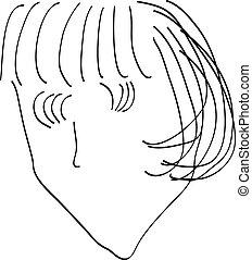 Bobbed hairstyle - Salon business logo