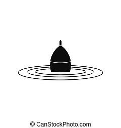Bobber black simple icon