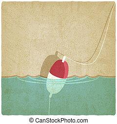 bobber fishing background - vector illustration. eps 10