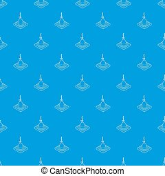 Bobber pattern seamless blue