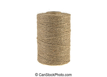 bobbin, a skein of a rope twine isolated on a white background