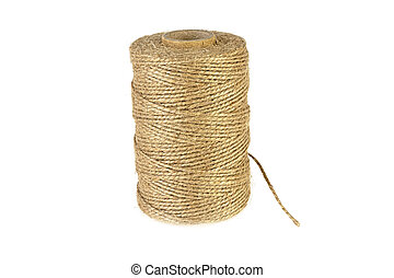 bobbin with a rope on a white background