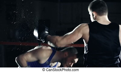 Bobbing to the Inside - Slow motion of two boxers sparring