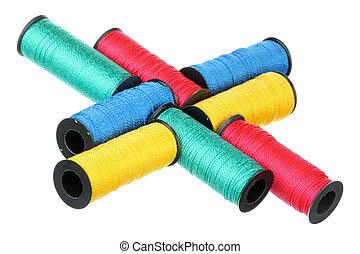 Bobbins of thread