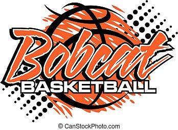 bobcat basketball with graphic basketball