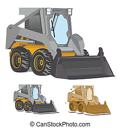 bobcat, excavator
