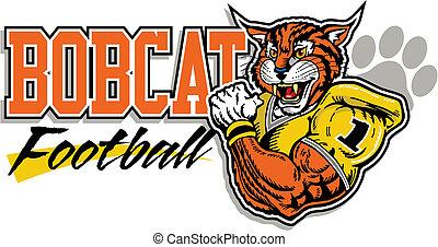 bobcat, football, disegno