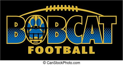 bobcat football team design with large paw print inside a ...
