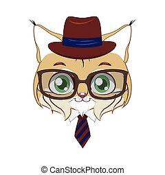 bobcat, hipster