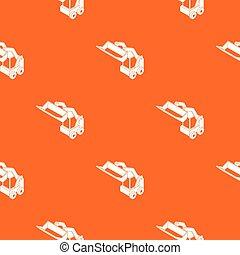 Bobcat machine pattern vector orange