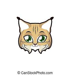 bobcat, retrato ilustração