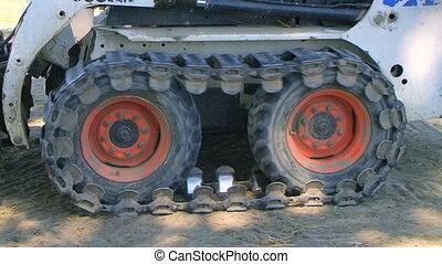 Bobcat Tracks Turning - Bobcat tracks turning in dirt.