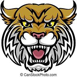 bobcat, wildcat, maskotka