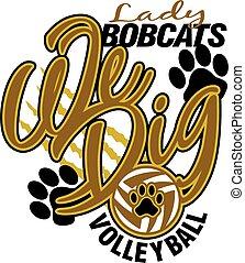 bobcats, dame, volleyball