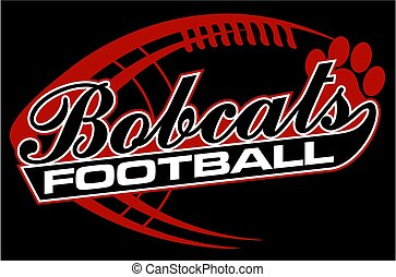 bobcats football team design in script with paw print for...