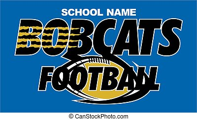 bobcats football team design with ball and claw marks for...