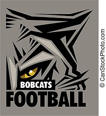 bobcats football team design with mascot eye black for...
