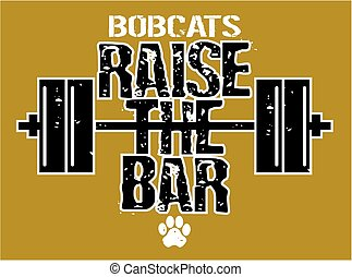 bobcats raise the bar weightlifting design with barbell for ...