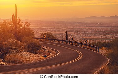 bobina, arizona, camino de la montaña