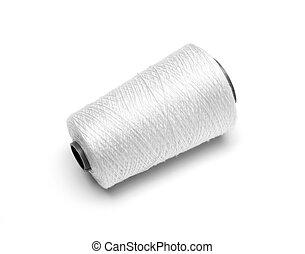 bobina, bianco, filo, bianco, fondo