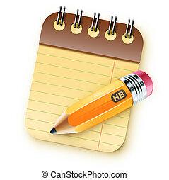 bobina, caderno, limite
