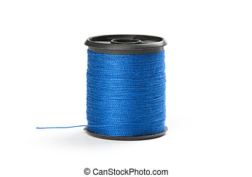 bobine, bleu, fil