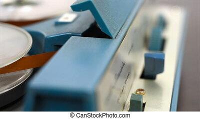 bobine, enregistreur, bande