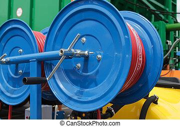 bobine, primo piano, tubazioni flessibili
