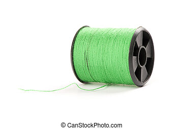 bobine, vert, fil