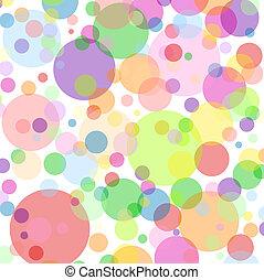 boble, baggrund, multicolored