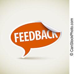 boble, feedback, tale, -