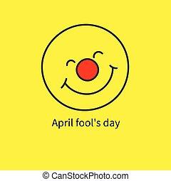 bobo, abril, ícone