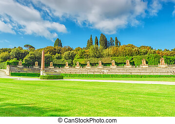 Boboli Gardens (Giardino di Boboli) in Florence - city of...