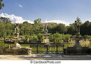 Boboli Gardens - The famous Boboli gardens in Florence Italy