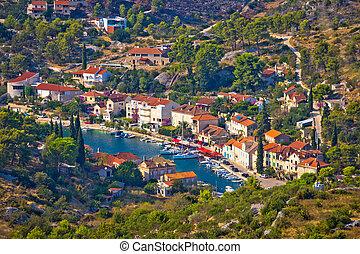 Bobovisca Na Moru village aerial view