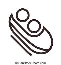 bobsleigh, icône