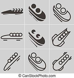 bobsleigh, icônes